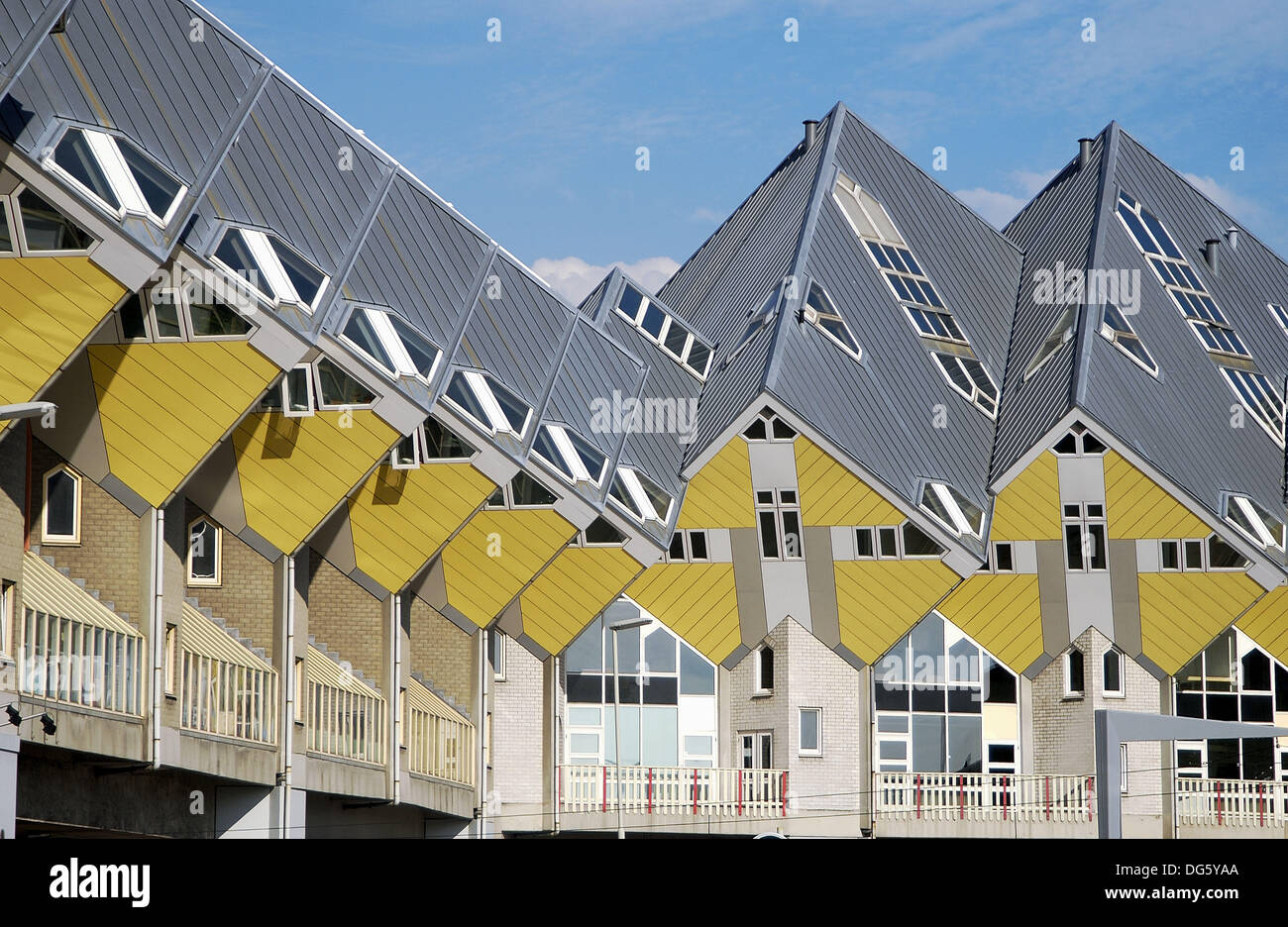 Cubic houses kubuswonig kijk kubus by piet blom rotterdam stock photo royalty free image - The cubic home ...
