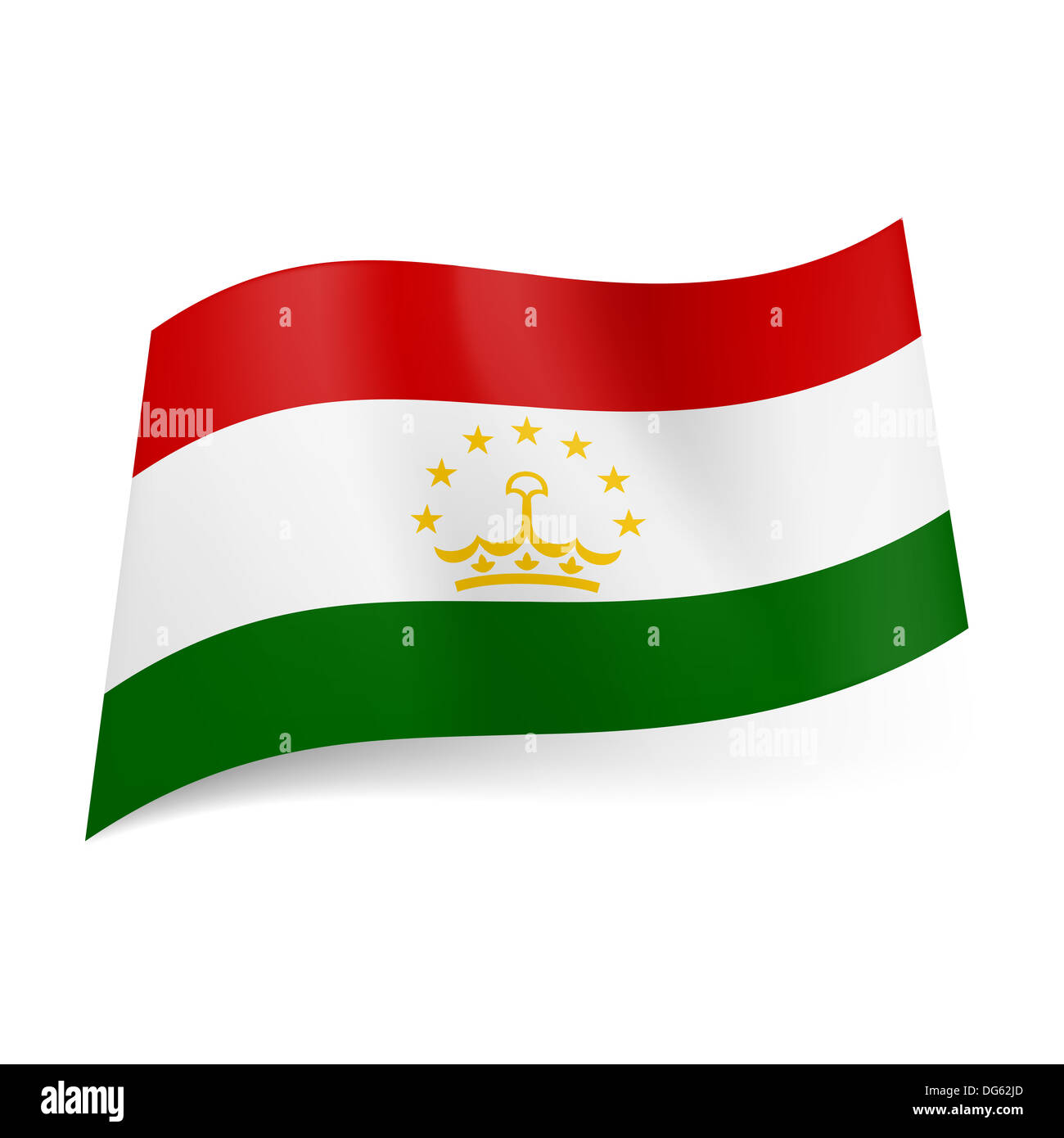 National flag of Tajikistan: red, white and green ... - photo#2