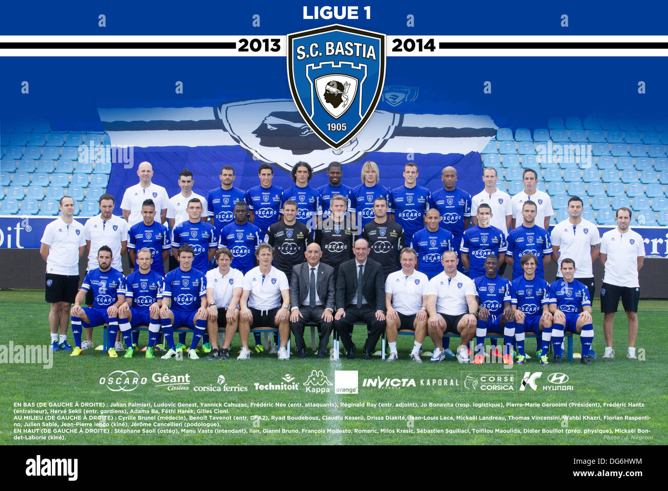 Bastia France  city photos : 15.10.2013. Bastia, France. French League 1 Football Team Sc Bastia ...