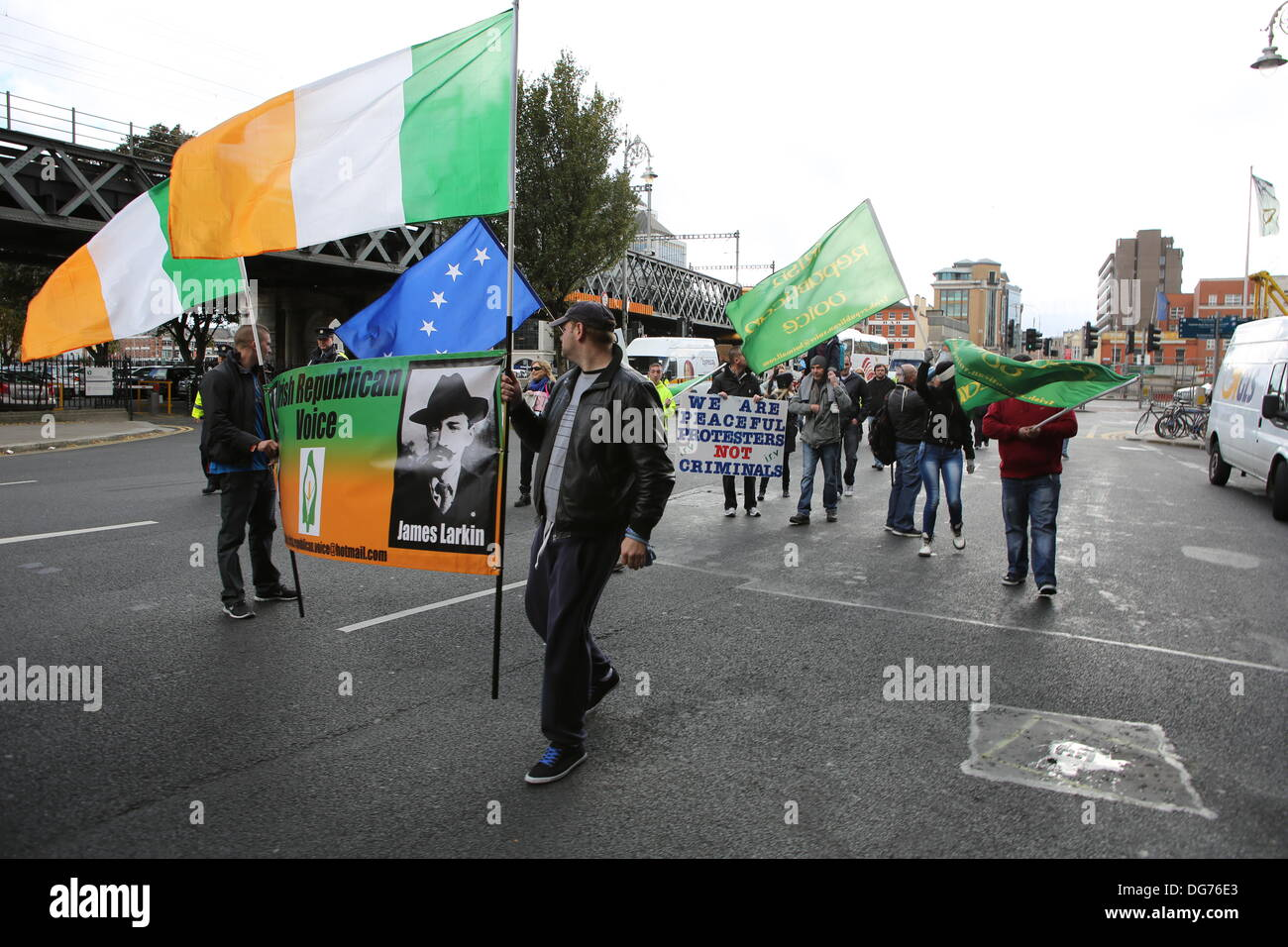 Dublin, Ireland. 15th October 2013. Protesters From The ...