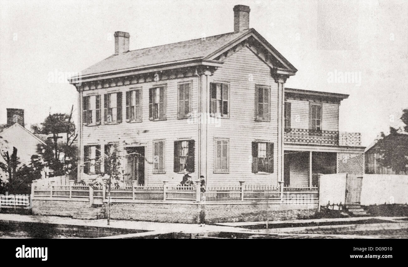 Abraham lincolns 39 family home in springfield illinois for American family homes