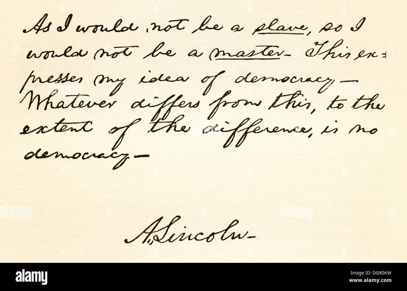 Astounding Handwriting And Signature Of Abraham Lincoln 1809 1865 16Th Hairstyles For Men Maxibearus