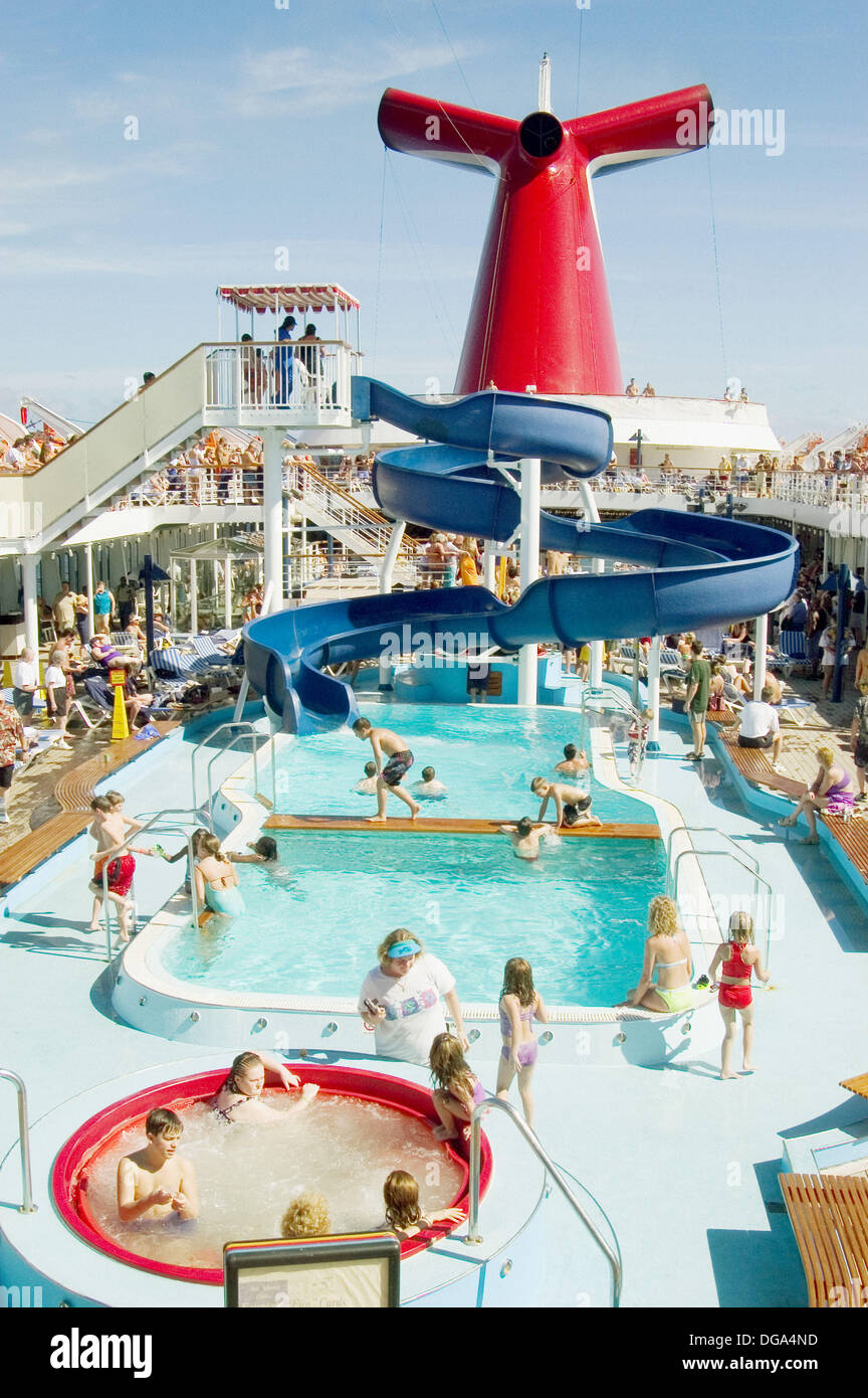 Family Activities Aboard The Carnival Cruise Ship Fantasy From Port Stock Pho