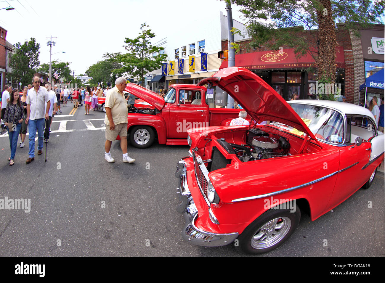 Classic Cars On Display At Street Festival Sayville Long Island