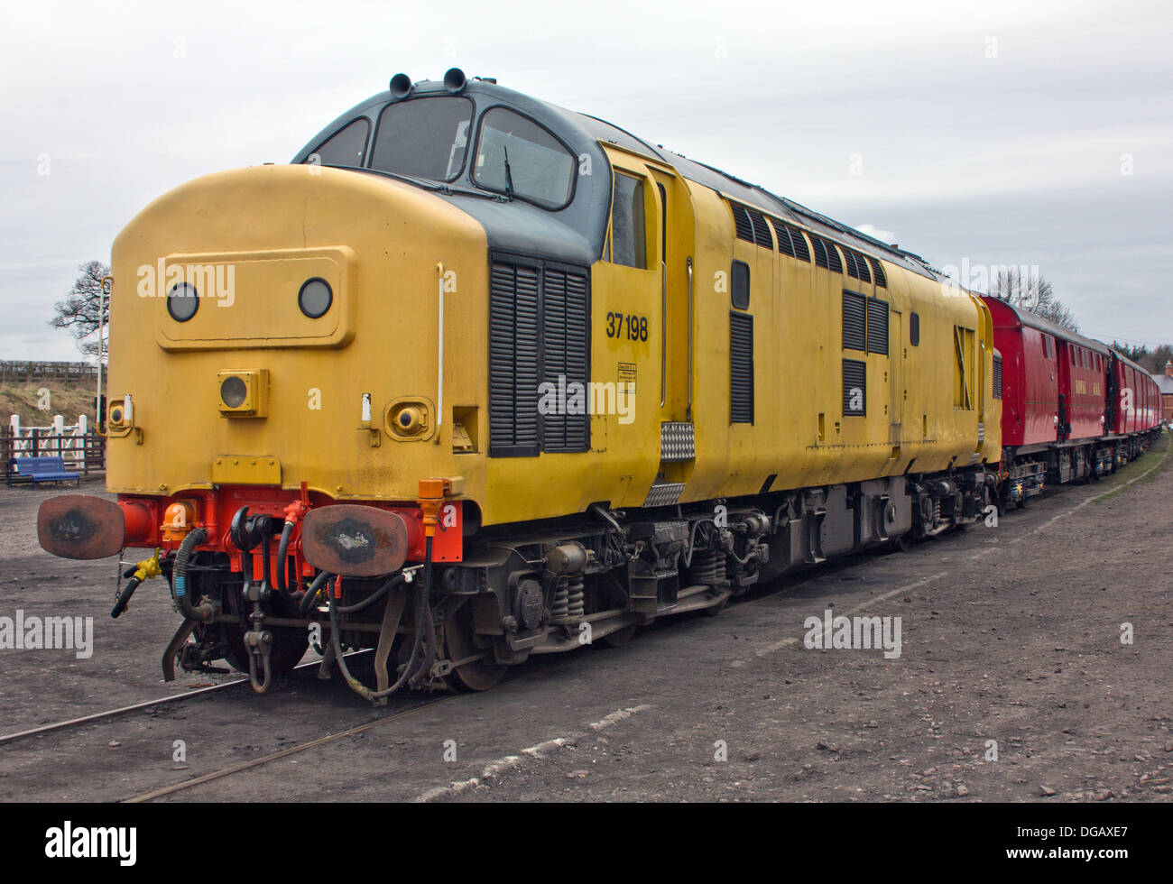 English Electric Type 3 Class 37 Diesel Locomotive Train