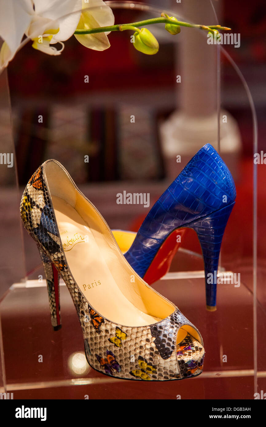 Christian Louboutin Shoes On Display At The Designers Store Inside ...