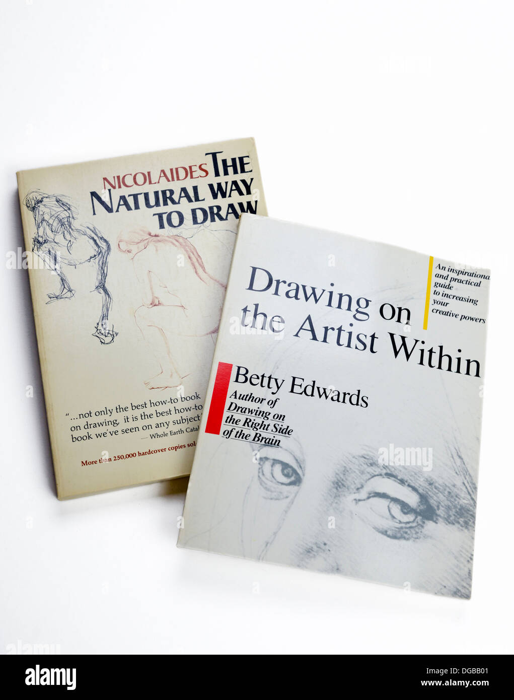 Stock Photo  The Natural Way To Draw By Kimon Nicolaides & Drawing On The  Artist Within By Betty Edwards, Two Important Books In Art Study