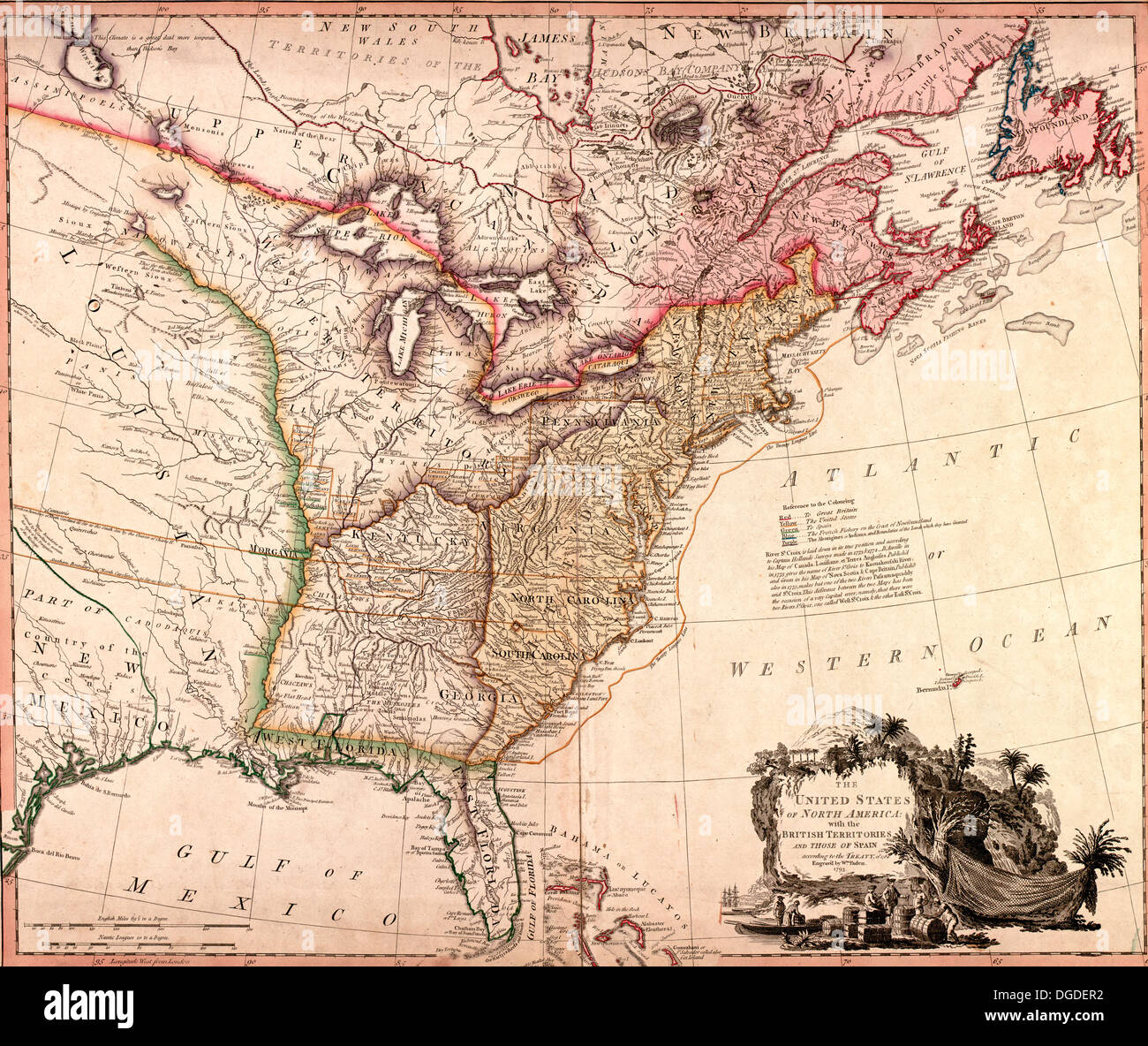 The United States Of North America With The British Territories - Is united states north america