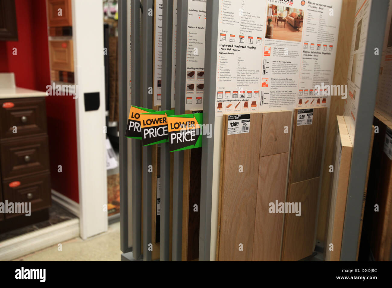 Kitchener Flooring Hardwood And Laminate Flooring Samples On Display In The Home