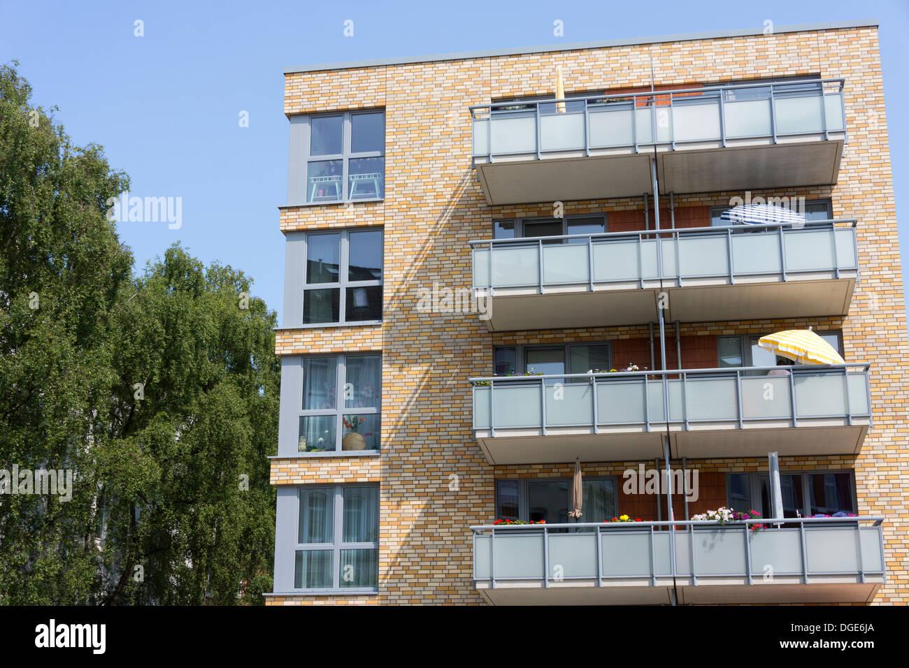 Contemporary Apartment Buildings In Kiel GermanyContemporary Apartment  Buildings In Kiel Germany Stock Photo . Contemporary Apartment