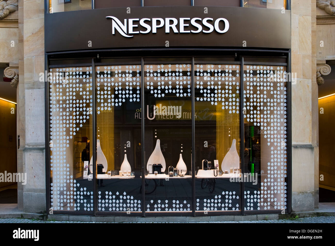 germany bavaria munich nespresso shop stock photo royalty free image 61789465 alamy. Black Bedroom Furniture Sets. Home Design Ideas