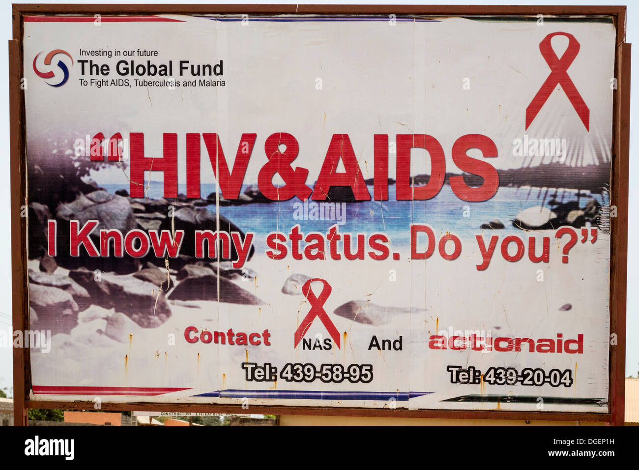 Public Health Education Campaign; HIV-AIDS Awareness Poster, North ...