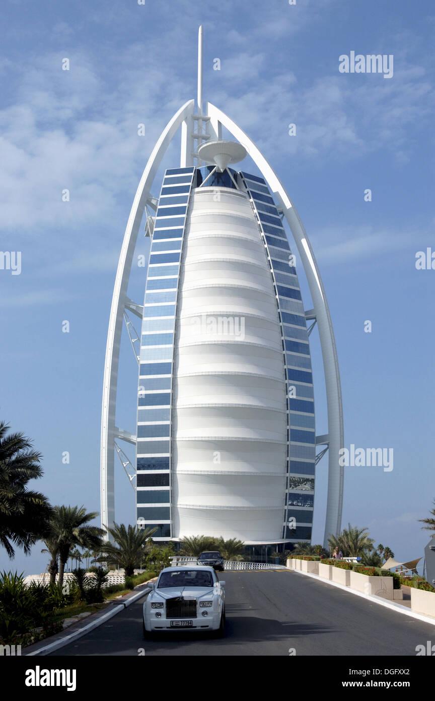 Stock photo the luxury hotel burj al arab the worlds first seven star hotel emirate of dubai united arab emirates on the persian
