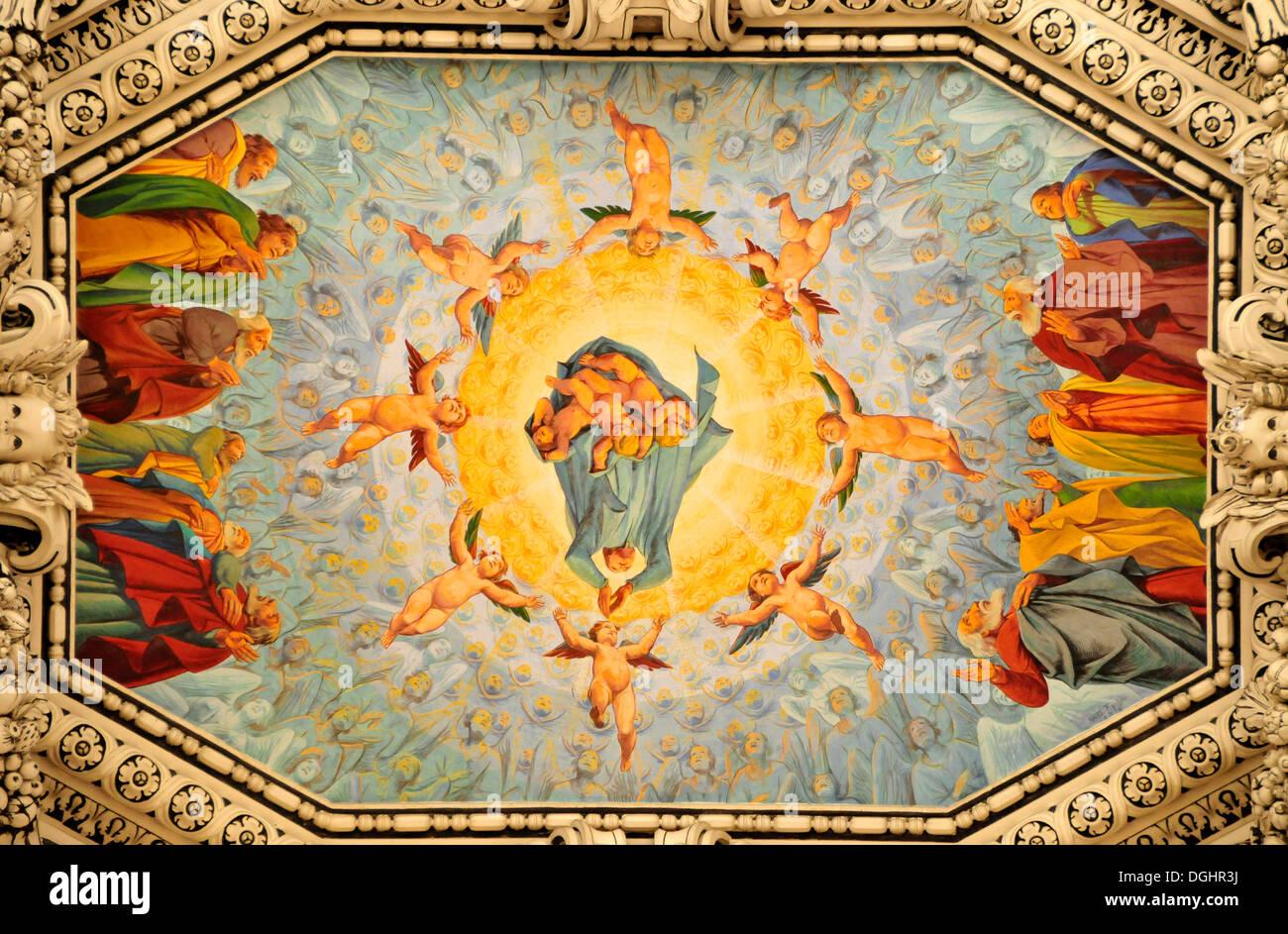 Baroque ceiling cathedral stock photos baroque ceiling cathedral baroque ceiling paintings in salzburg cathedral salzburg salzburg austria europe stock doublecrazyfo Gallery