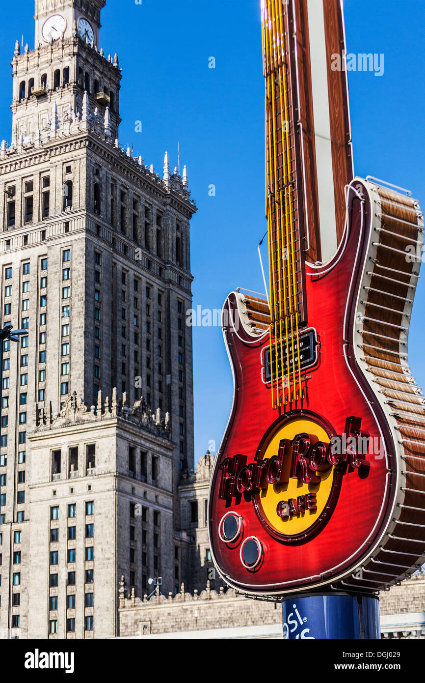 hard rock cafe malaga best free the palace of culture and science and the hard rock cafe guitar. Black Bedroom Furniture Sets. Home Design Ideas