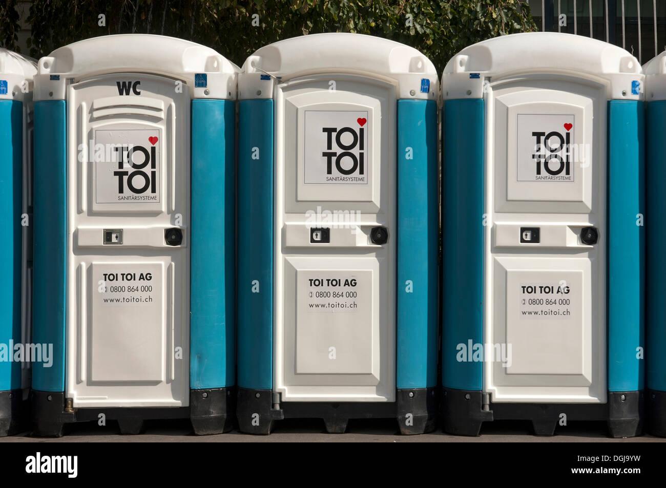 toi toi mobile toilets switzerland europe stock photo royalty free image 61868573 alamy. Black Bedroom Furniture Sets. Home Design Ideas