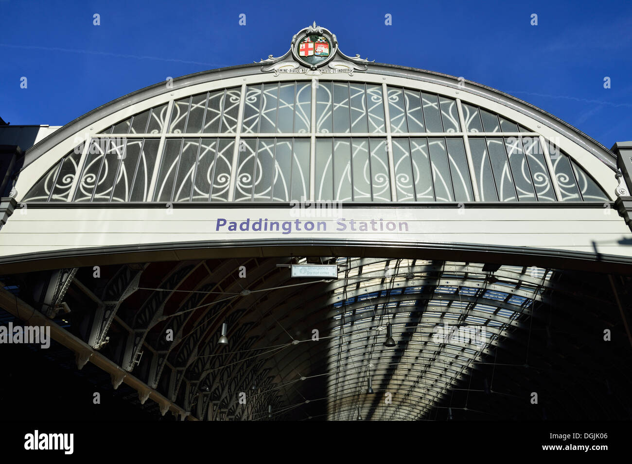 Paddington Station canopy London W2 United Kingdom & Paddington Station canopy London W2 United Kingdom Stock Photo ...