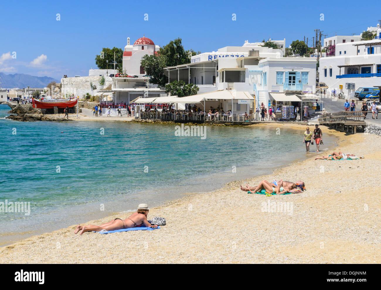 Image Gallery mykonos sunbathing