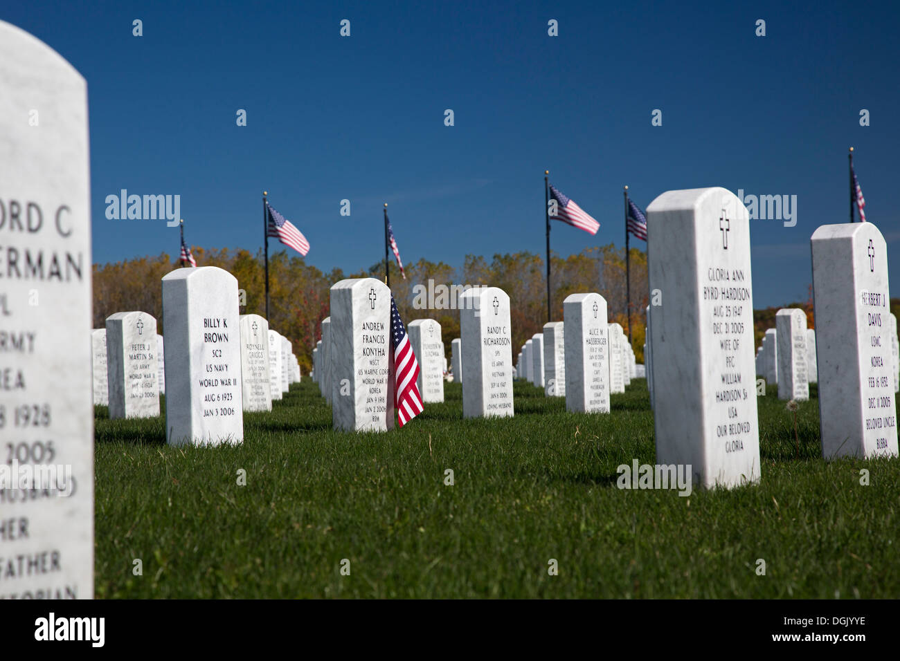Holly, Michigan - Great Lakes National Cemetery, Part Of The ...