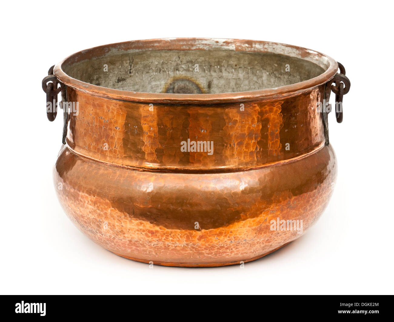 Antique copper cooking pot Stock Photo, Royalty Free Image ...