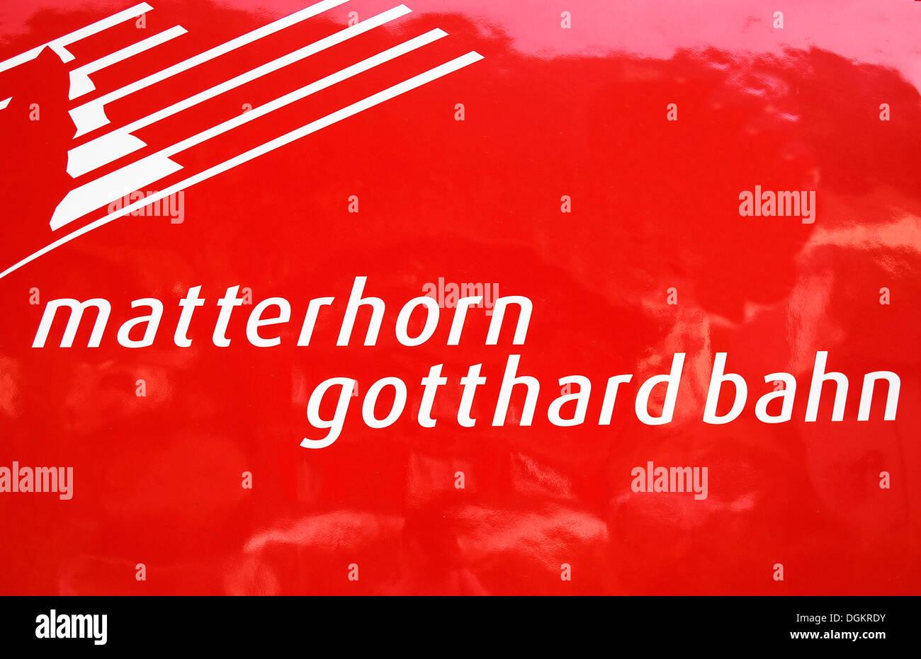 logo of the matterhorn gotthard bahn narrow gauge railway stock