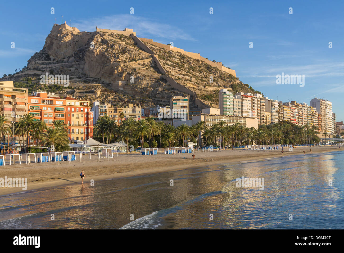 Spain alicante beach santa barbara castle stock photo - Stock uno alicante ...