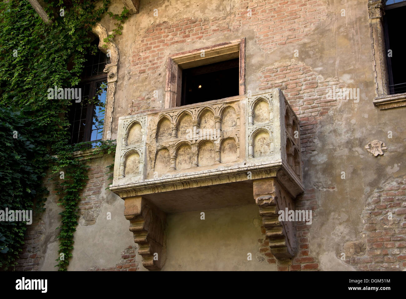 The famous balcony of romeo and juliet in verona stock for Famous balcony