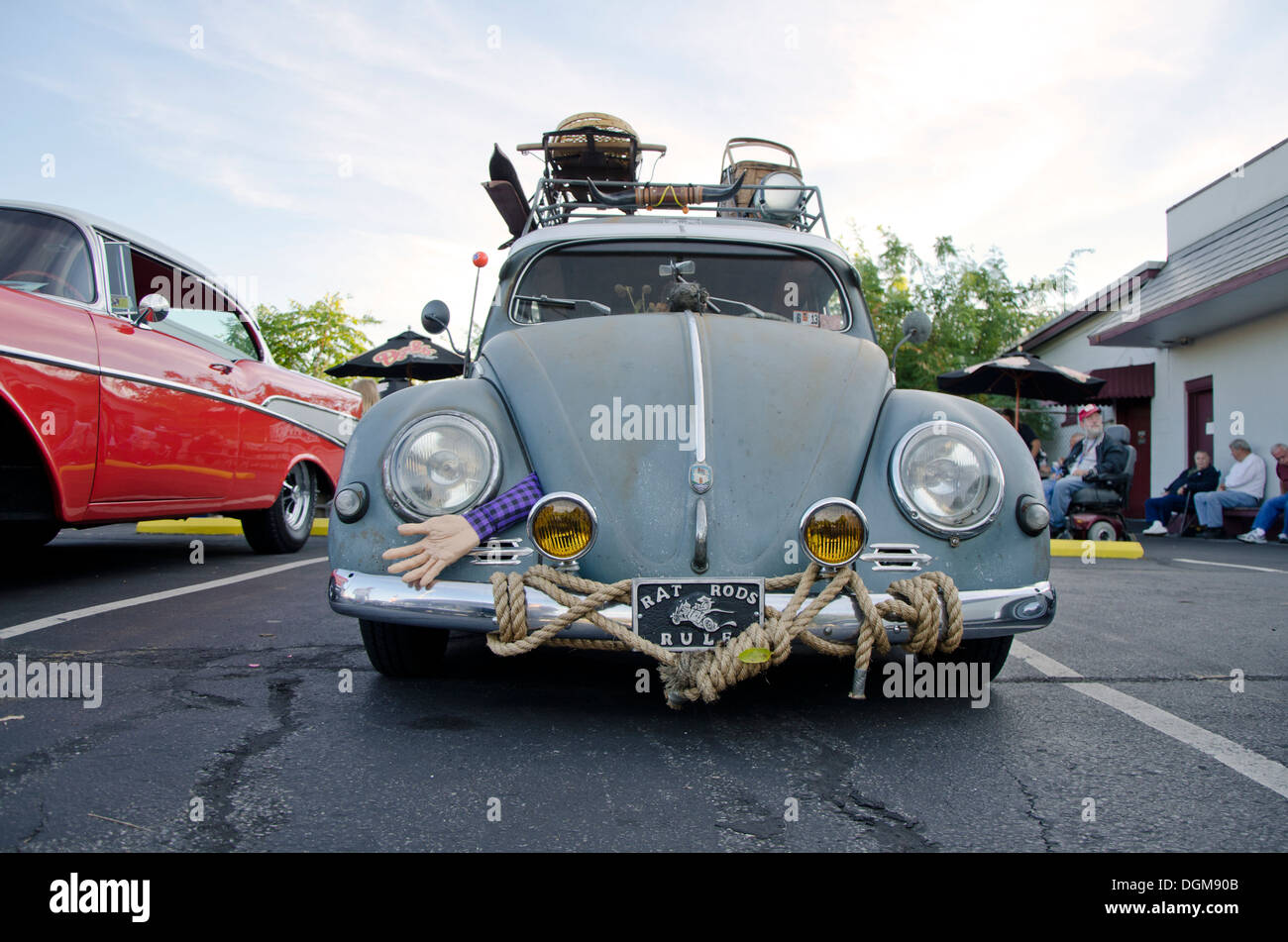 Rat Rods Rule. Old volkswagen VW on display during a classic ...