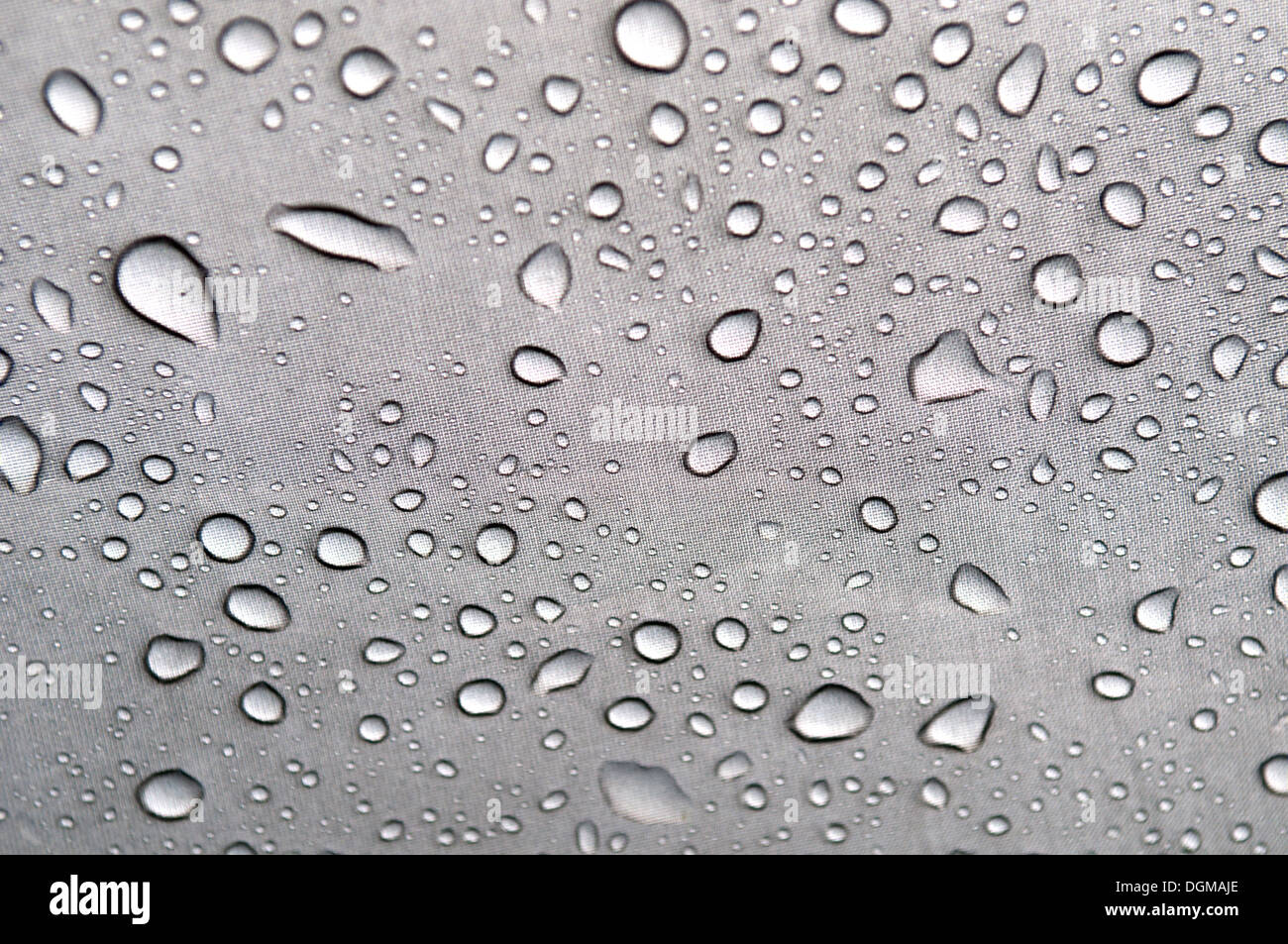 Raindrops settle on waterproof nylon tent material  sc 1 st  Alamy & Raindrops settle on waterproof nylon tent material Stock Photo ...