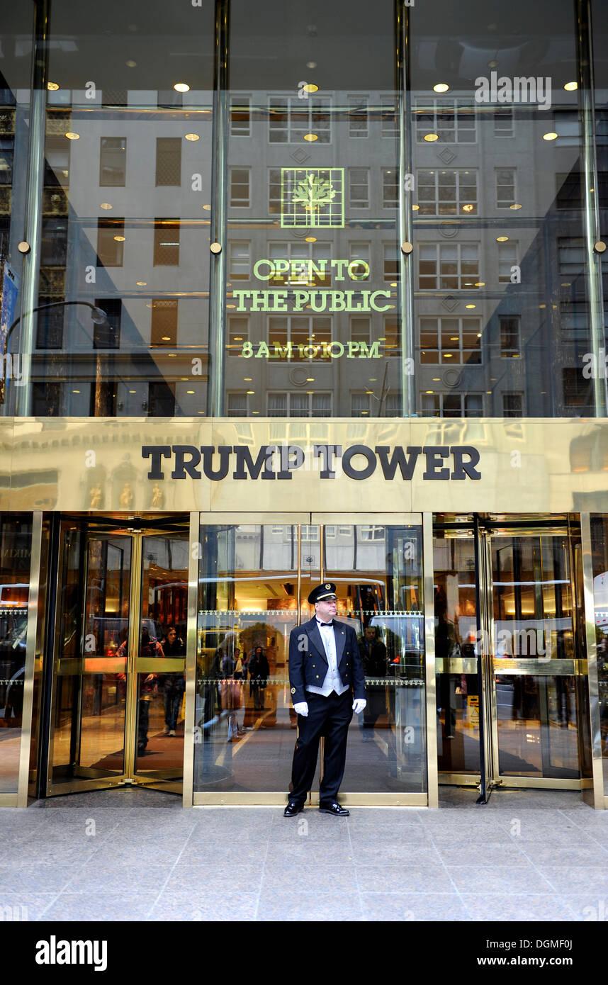Doorman Standing In Front Of The Trump Tower Manhattan
