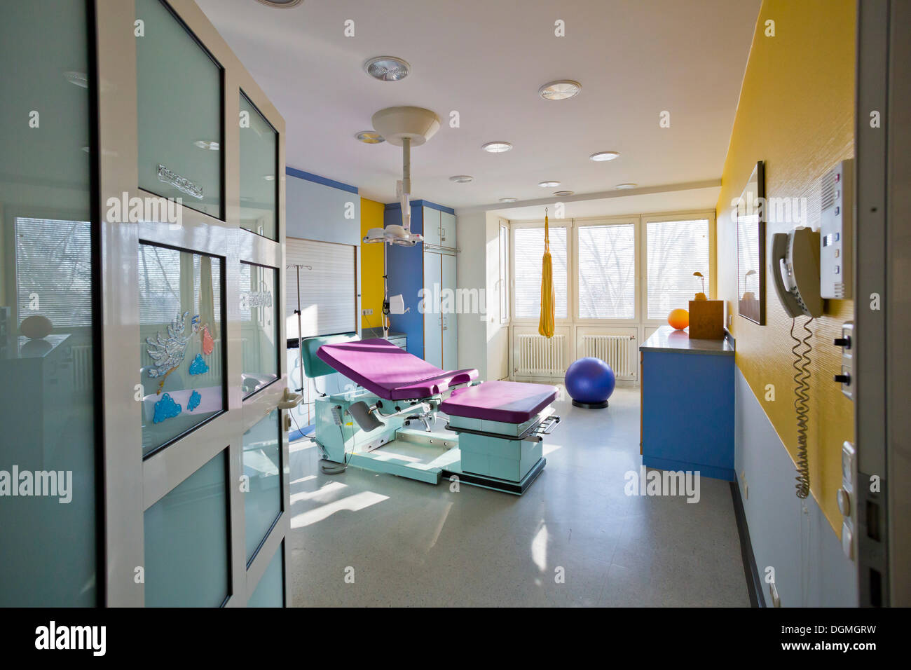 Delivery Room In A Maternity Ward Germany Stock Photo