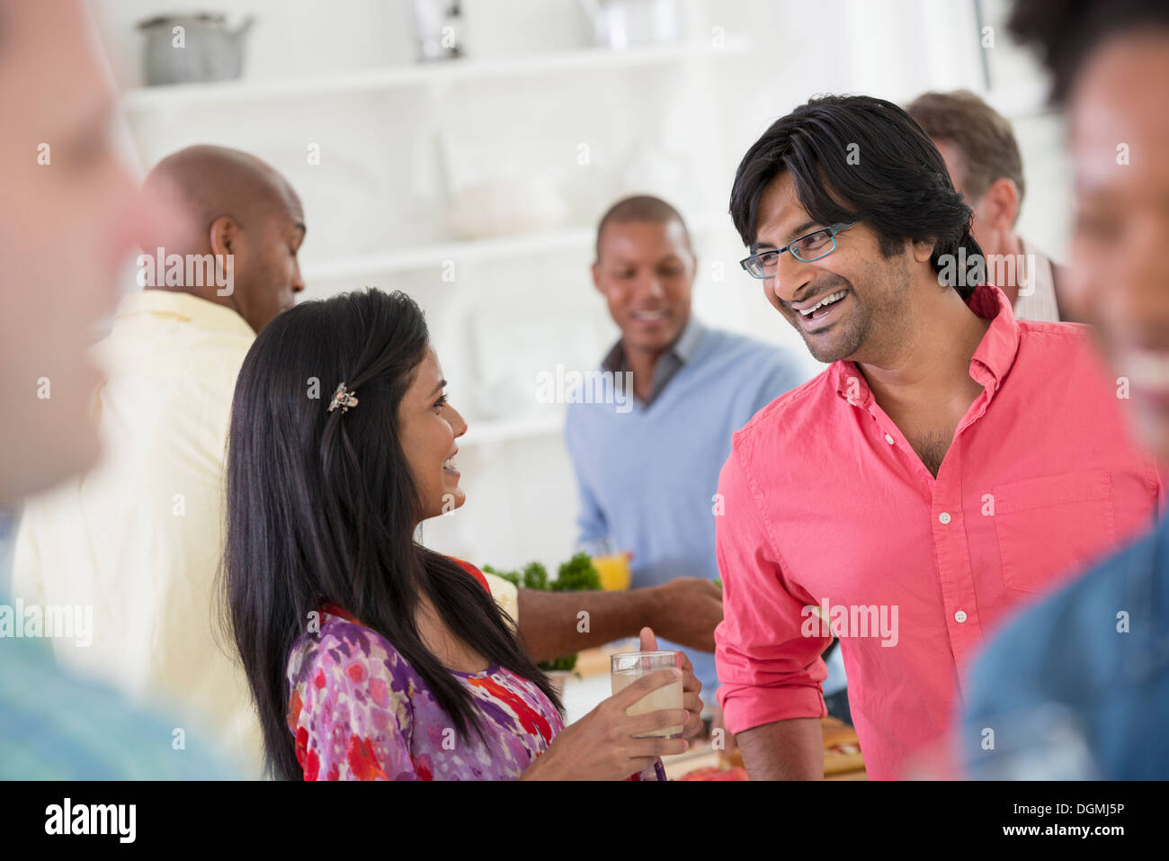 office party stock photos office party stock images alamy a networking office party or informal event a man and w at the centre of