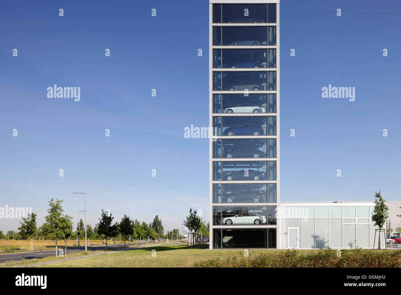 berlin germany car tower at the audi centre in the. Black Bedroom Furniture Sets. Home Design Ideas