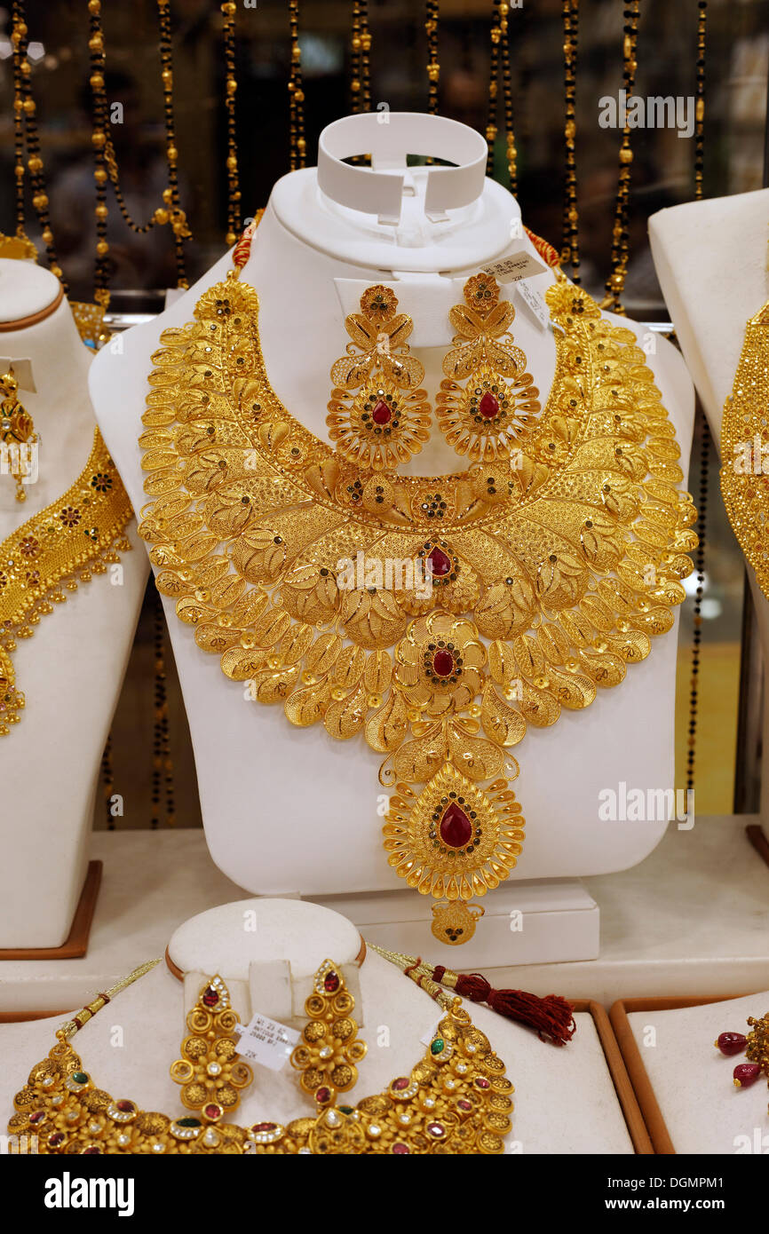 Lush gold necklace, Indian style, based upon ancient models, Gold ...