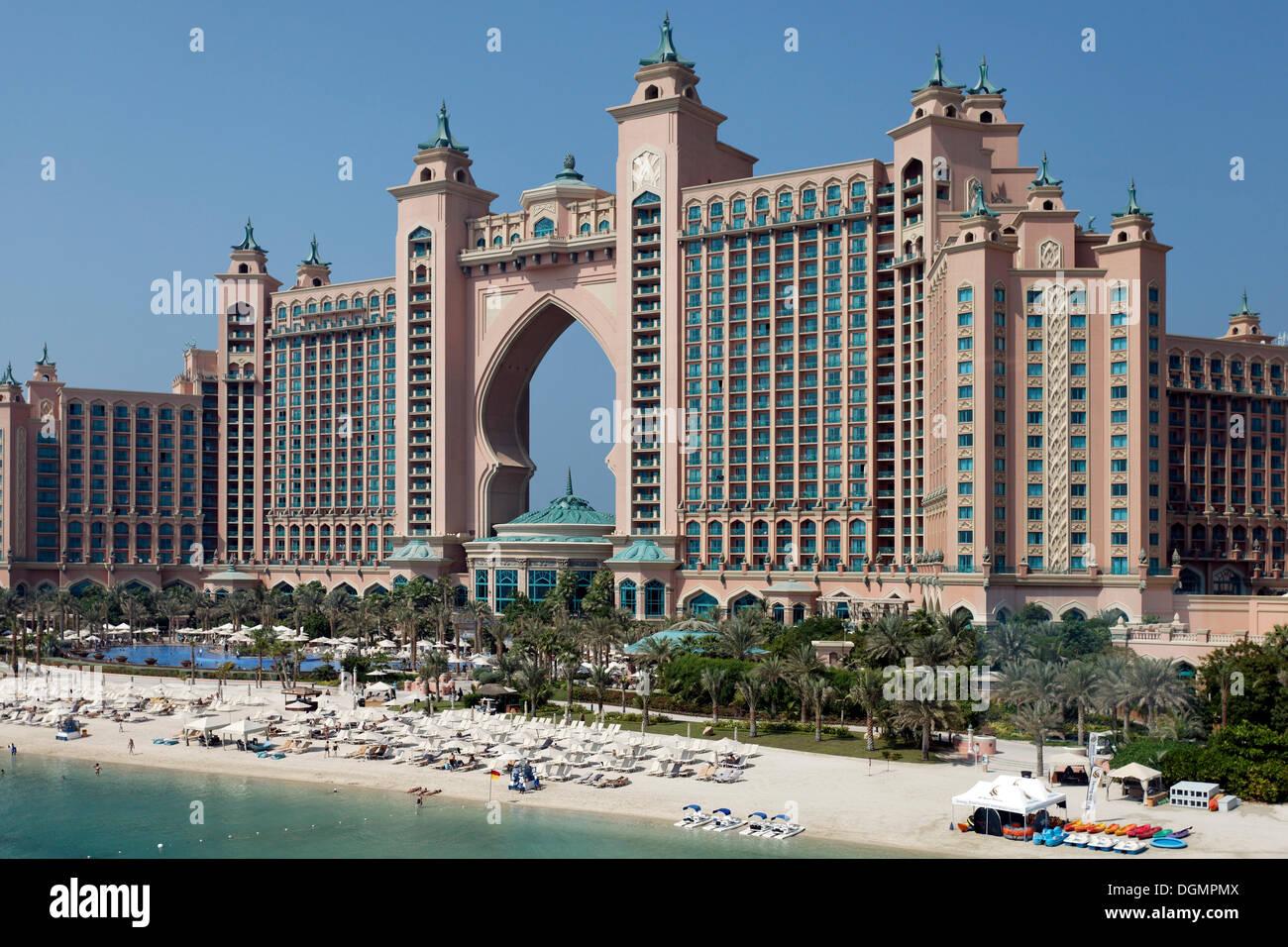 Atlantis a luxury hotel the palm jumeirah dubai united arab emirates middle east asia
