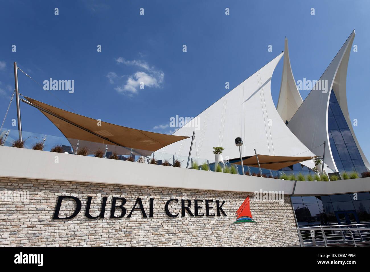 White building in the form of sails dubai creek golf club for The sail dubai