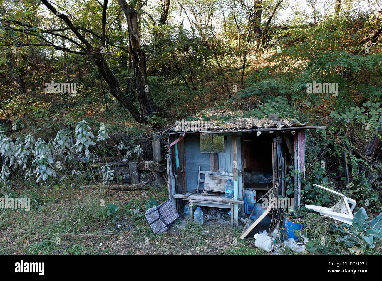 Abandoned hut of a wild small scale allotment garden for Small garden huts