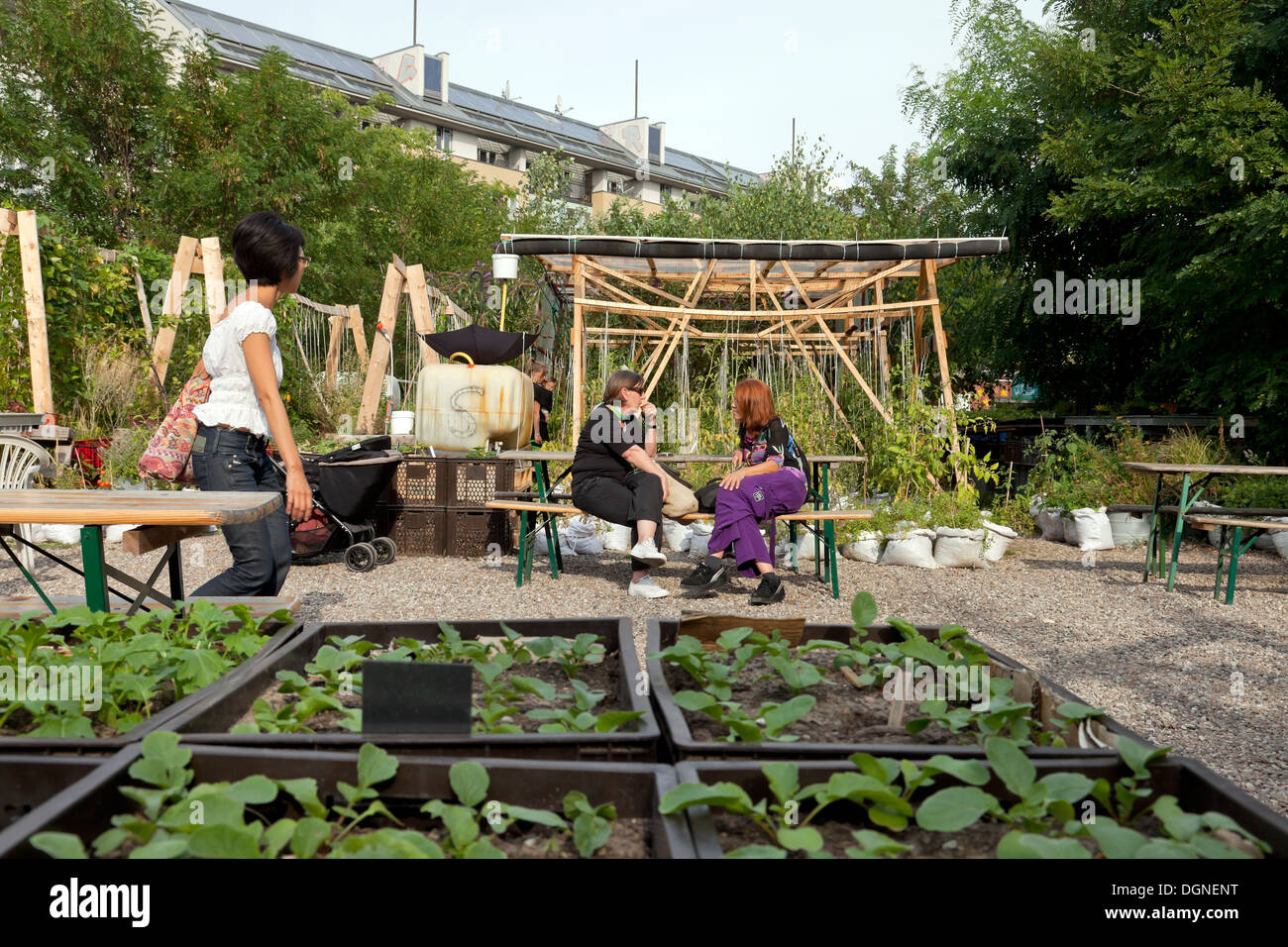 berlin germany urban gardening in the princess gardens at stock photo royalty free image. Black Bedroom Furniture Sets. Home Design Ideas