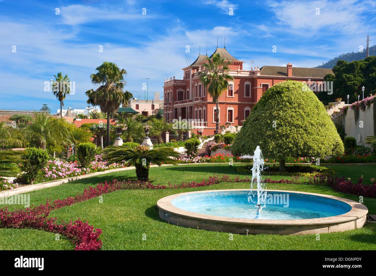 Gardens of jardin del marquesado de la quinta roja la orotava stock photo royalty free image - Jardines de franchy la orotava ...