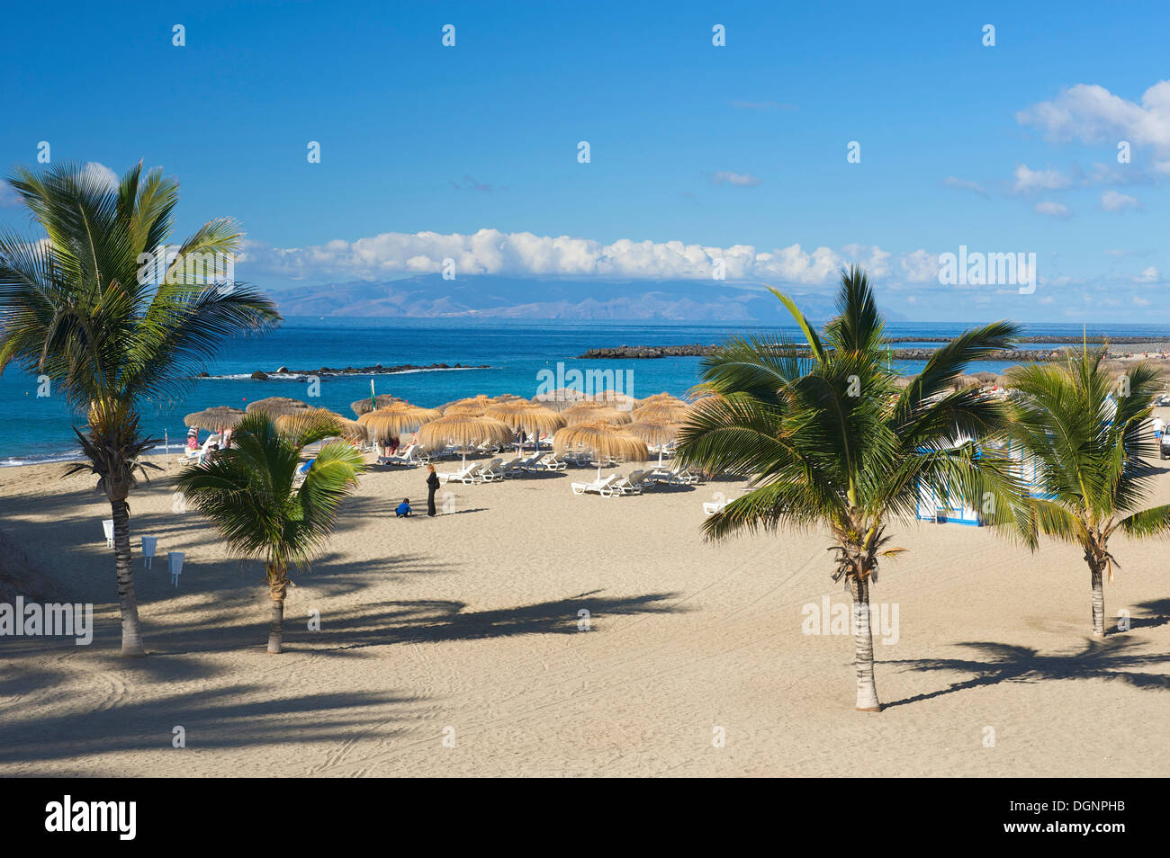Beach of Playa del Duque, Costa Adeje, Tenerife, Spain, Europe Stock Photo, R...
