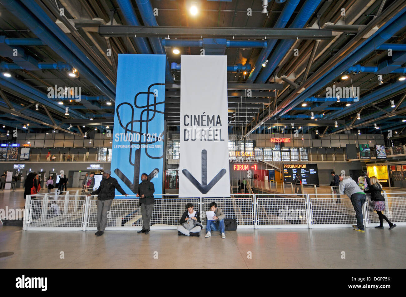 interior of centre pompidou in paris france stock photo 61954191 alamy. Black Bedroom Furniture Sets. Home Design Ideas