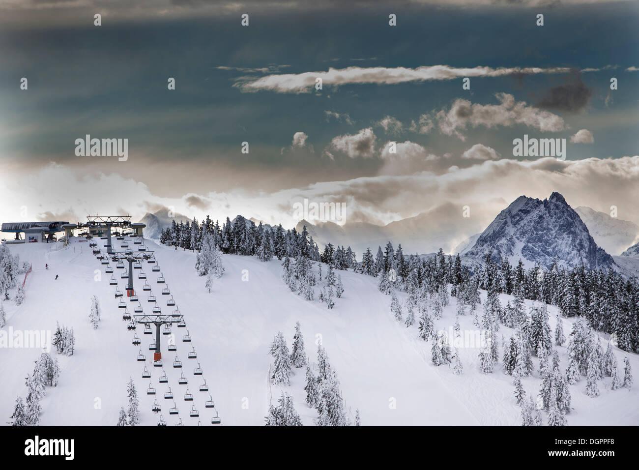 Summit Chair Lift chair lift on eiberg mountain in the wilder kaiser ski world