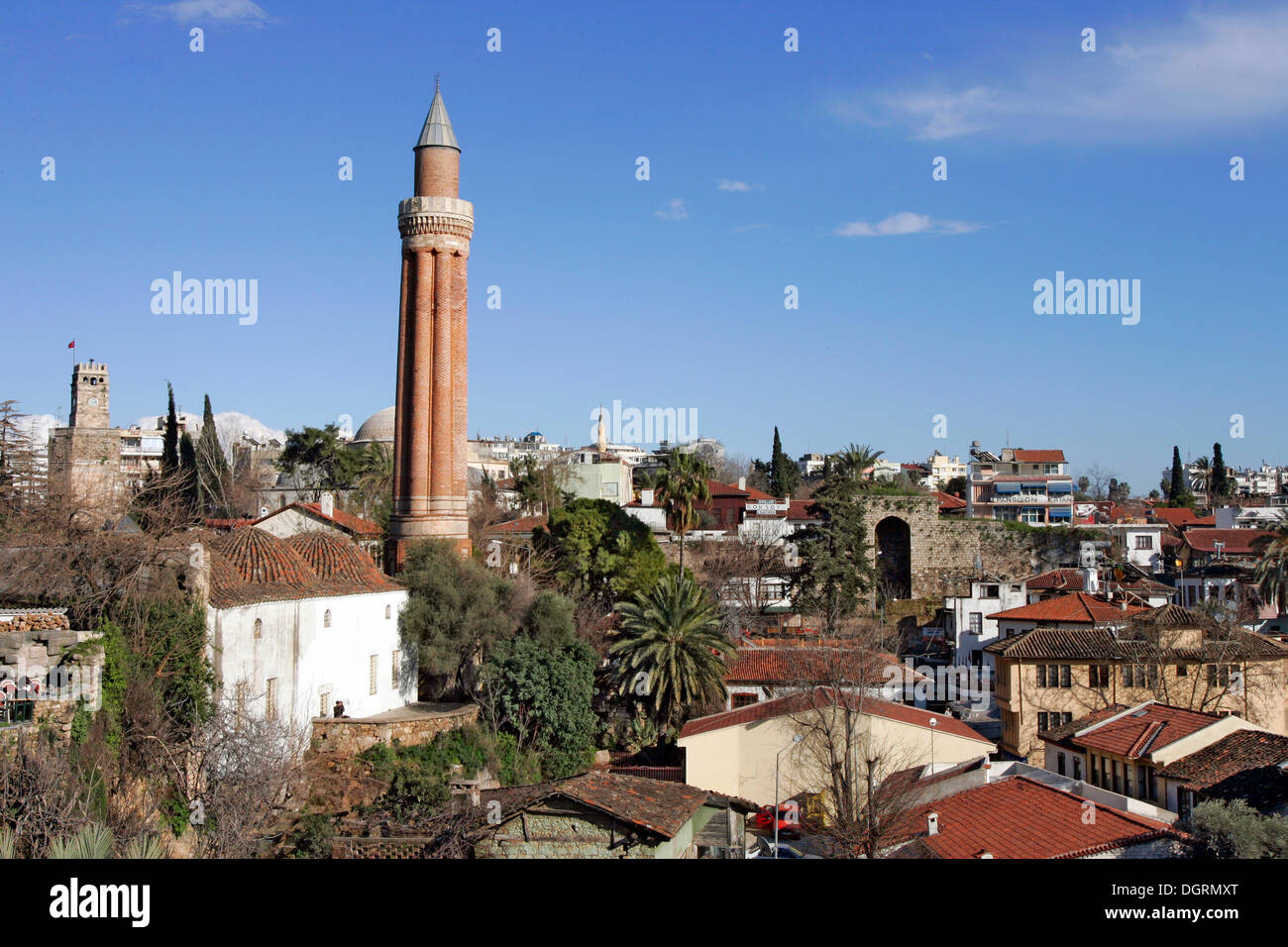 Yivli Minare Mosque, also known as Antalya Ulu Camii, Saat ...