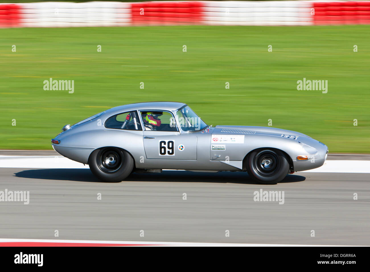 race of post war racing cars e type jaguar at the oldtimer grand stock photo royalty free. Black Bedroom Furniture Sets. Home Design Ideas