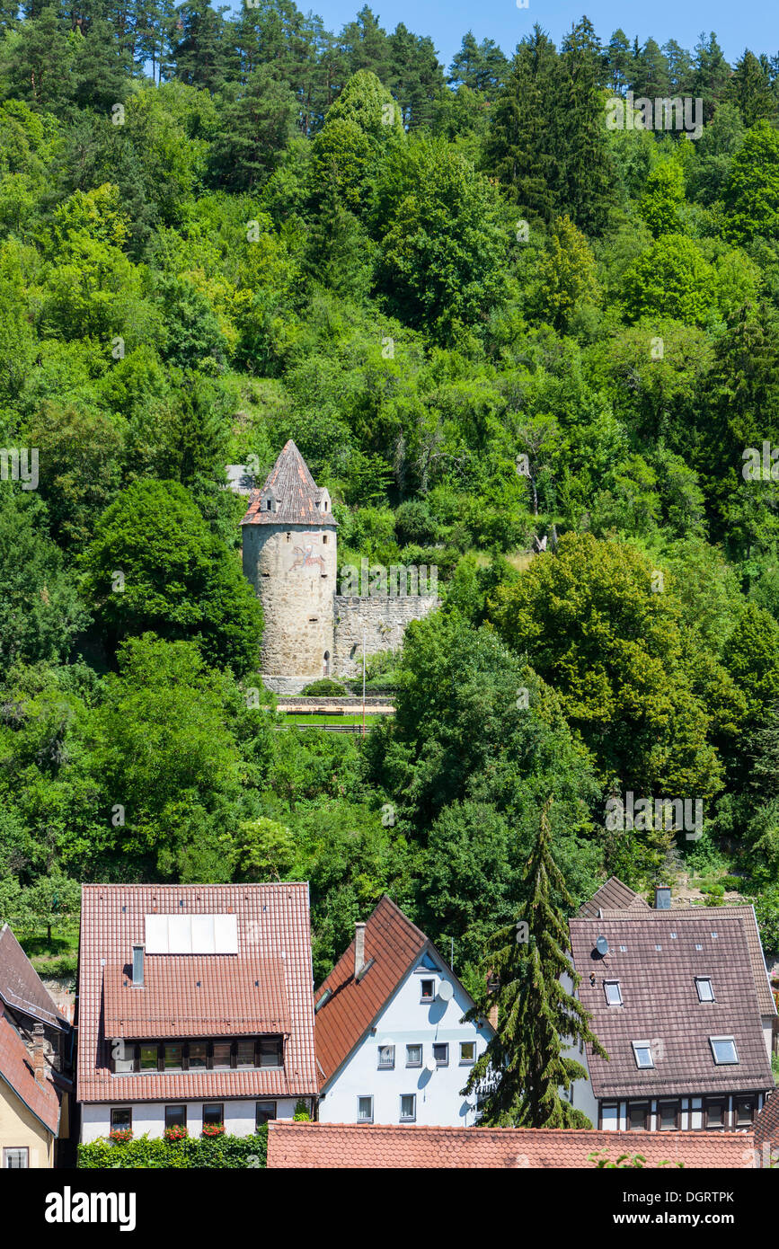 ringmauerturm tower horb am neckar black forest stock photo royalty free image 61989947 alamy. Black Bedroom Furniture Sets. Home Design Ideas