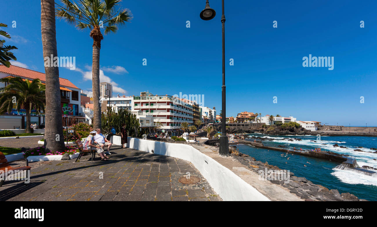 Waterfront promenade with the san telmo hotel puerto de la cruz san stock photo royalty free - Hotel san telmo puerto de la cruz tenerife ...
