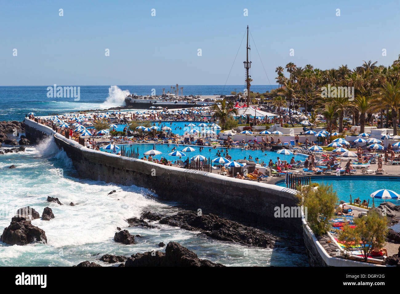 Playa de martianez designed by cesar manrique puerto de la cruz stock photo royalty free - Playa puerto de la cruz tenerife ...