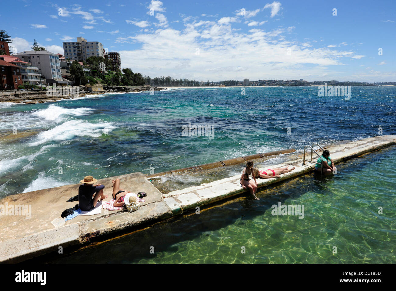 Swimming Pool In The Sea Near Manly Beach North Sydney