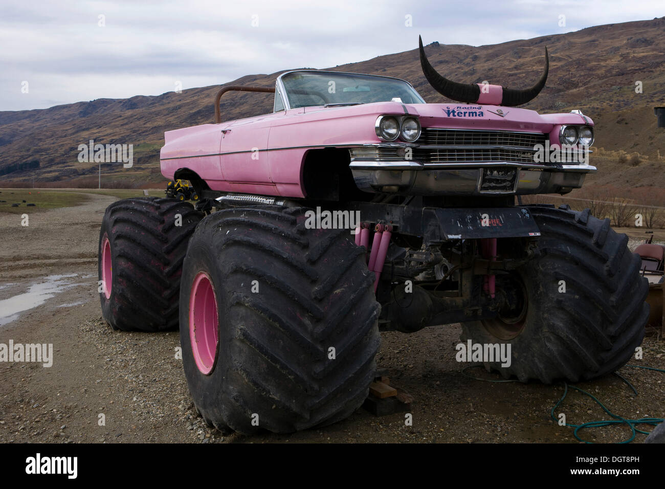 Pink Cadillac Monster Truck With Horns Criffel Range
