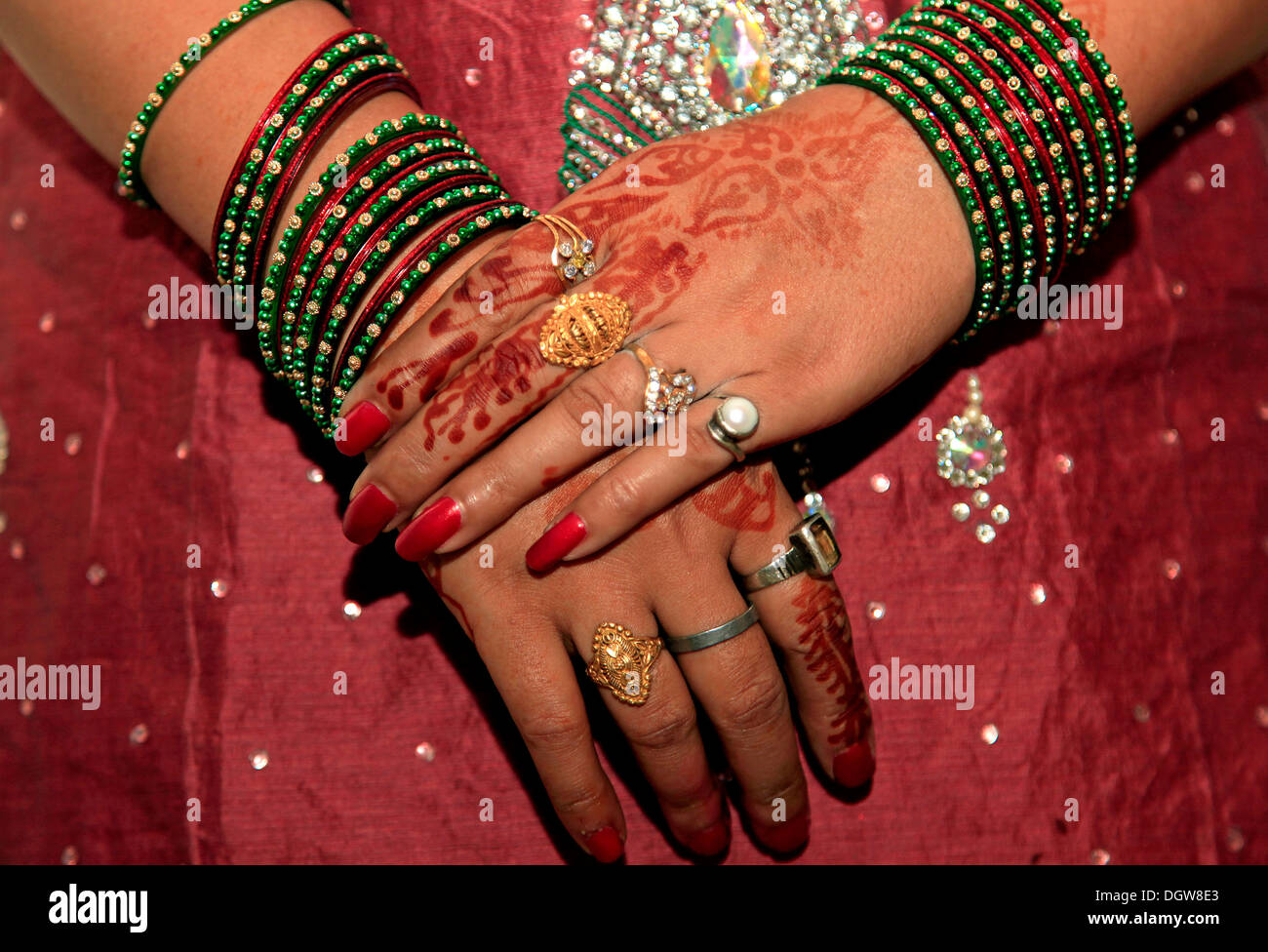 Woman hand with colorful bangles Stock Photo, Royalty Free Image ...